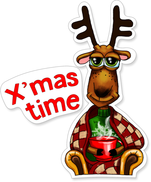 Xmas Reindeer Stickers messages sticker-5