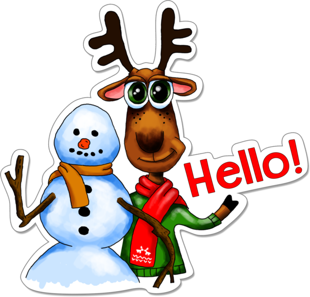 Xmas Reindeer Stickers messages sticker-9