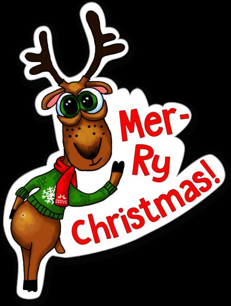 Xmas Reindeer Stickers messages sticker-1