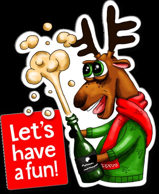 Xmas Reindeer Stickers messages sticker-8
