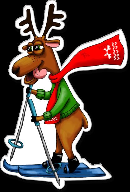 Xmas Reindeer Stickers messages sticker-6