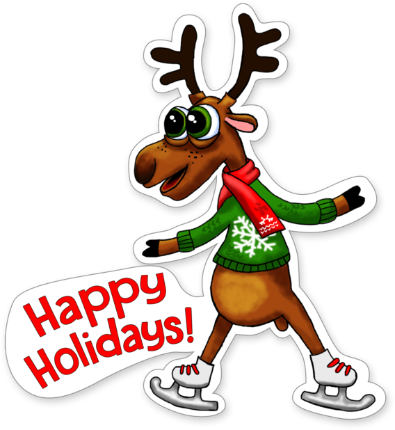 Xmas Reindeer Stickers messages sticker-2