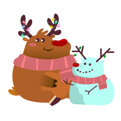 Rudolph the Fluffy Reindeer Stickers messages sticker-3