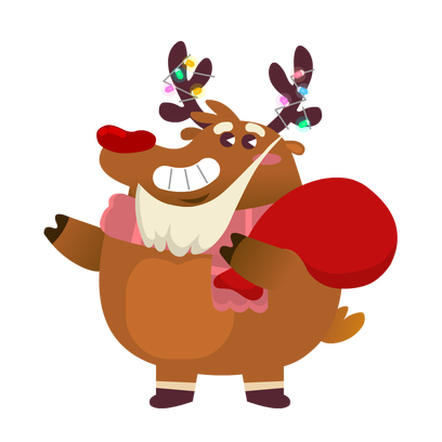 Rudolph the Fluffy Reindeer Stickers messages sticker-0