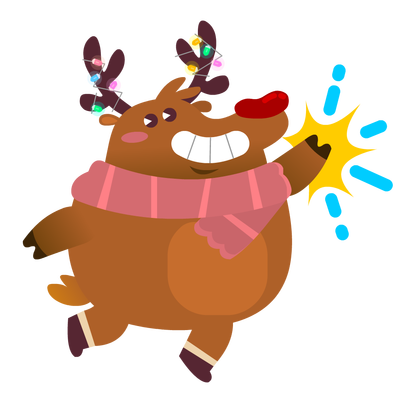 Rudolph the Fluffy Reindeer Stickers messages sticker-6