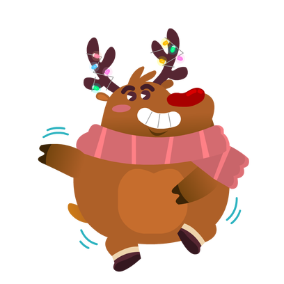 Rudolph the Fluffy Reindeer Stickers messages sticker-11