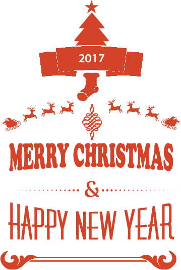 Christmas & New year 2017 Stickers messages sticker-9