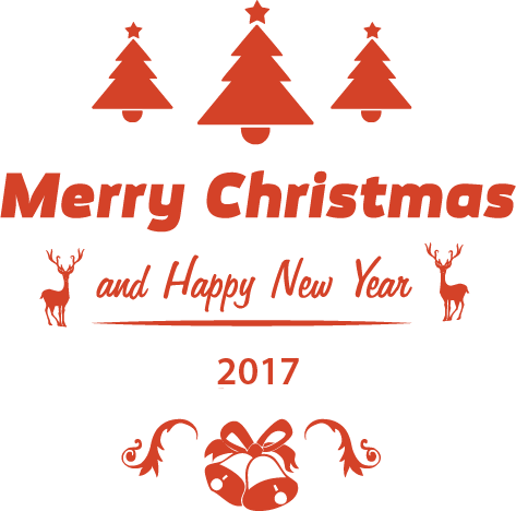 Christmas & New year 2017 Stickers messages sticker-2