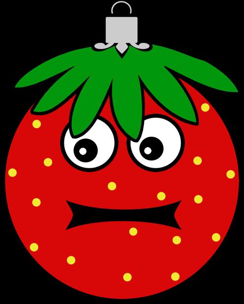 Erdbeermän ist Chris Baumkugel messages sticker-1