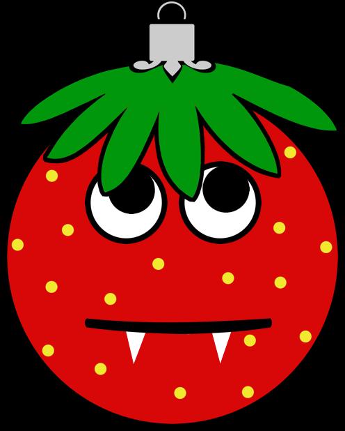 Erdbeermän ist Chris Baumkugel messages sticker-2