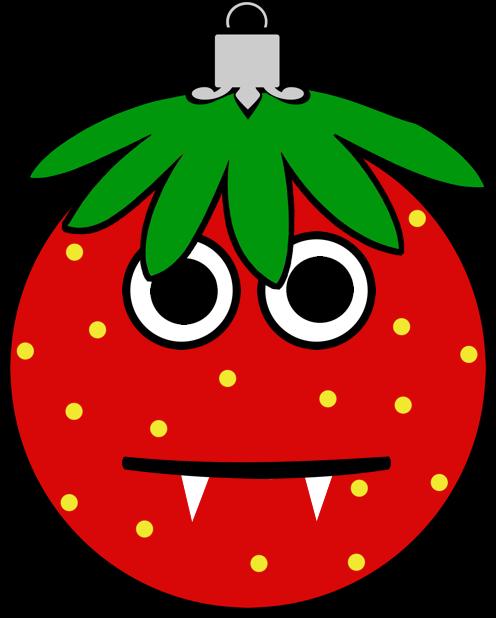 Erdbeermän ist Chris Baumkugel messages sticker-11
