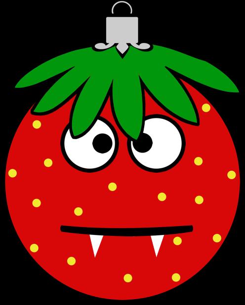 Erdbeermän ist Chris Baumkugel messages sticker-10