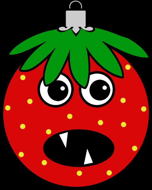 Erdbeermän ist Chris Baumkugel messages sticker-3