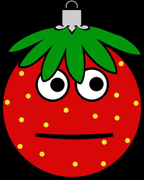 Erdbeermän ist Chris Baumkugel messages sticker-0