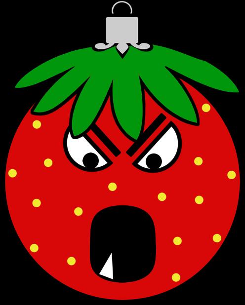 Erdbeermän ist Chris Baumkugel messages sticker-4