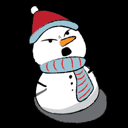 Snowman Stickers - emoji for iMessage messages sticker-6