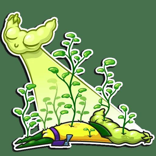 Vegan Six! Stickers messages sticker-10