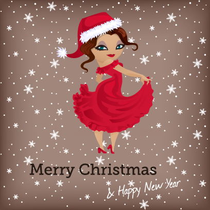 Penelope Pinup Christmas messages sticker-9