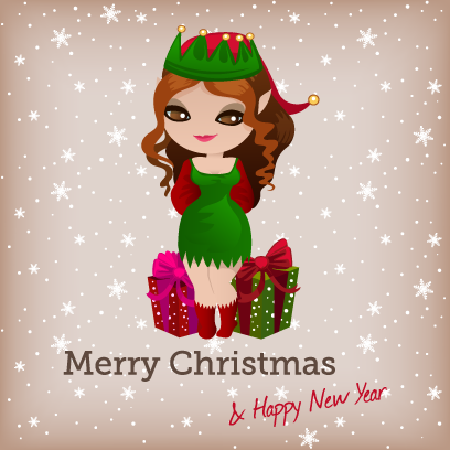 Penelope Pinup Christmas messages sticker-0