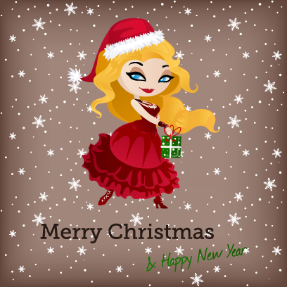 Penelope Pinup Christmas messages sticker-4