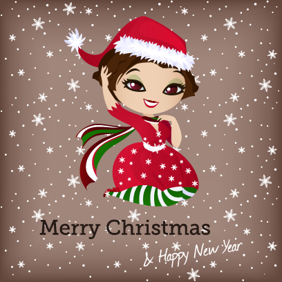 Penelope Pinup Christmas messages sticker-10