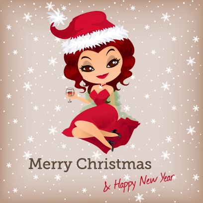 Penelope Pinup Christmas messages sticker-3