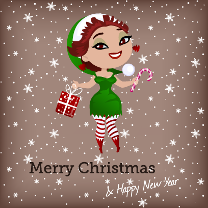 Penelope Pinup Christmas messages sticker-6