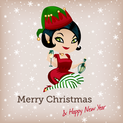 Penelope Pinup Christmas messages sticker-5