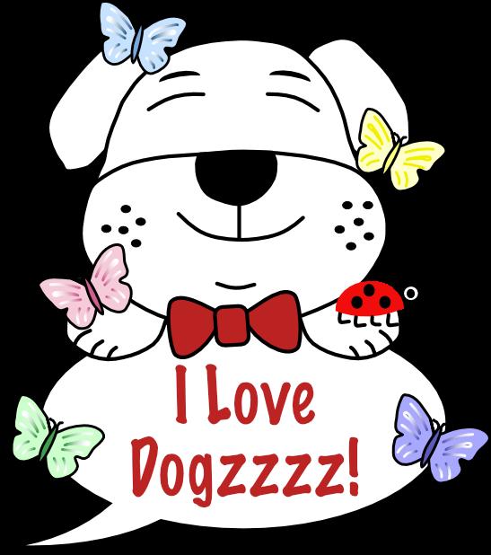 Dogzzzz - Cute & Cuddly messages sticker-0
