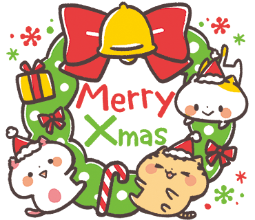 Kansaiben Naynko Christmas & New Year! messages sticker-0
