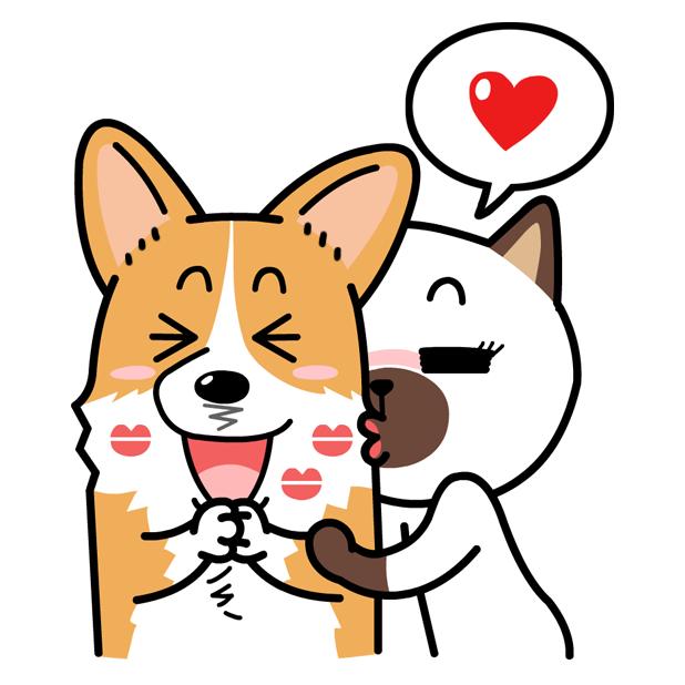 웰시코기 이광복 씨와 친구들(Welshcorgi Mr.LEE & Friends) messages sticker-10