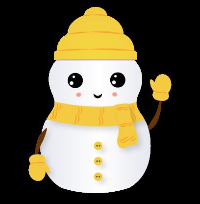 Little Snowman - Christmas Holiday Emoji messages sticker-6