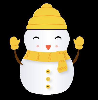 Little Snowman - Christmas Holiday Emoji messages sticker-7