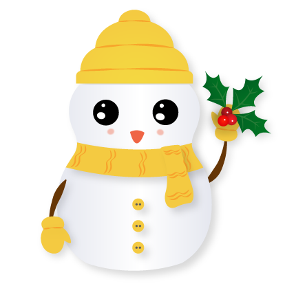 Little Snowman - Christmas Holiday Emoji messages sticker-0