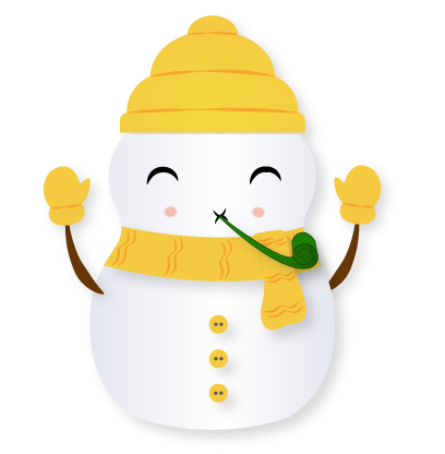 Little Snowman - Christmas Holiday Emoji messages sticker-11