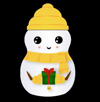 Little Snowman - Christmas Holiday Emoji messages sticker-1