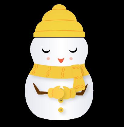 Little Snowman - Christmas Holiday Emoji messages sticker-9