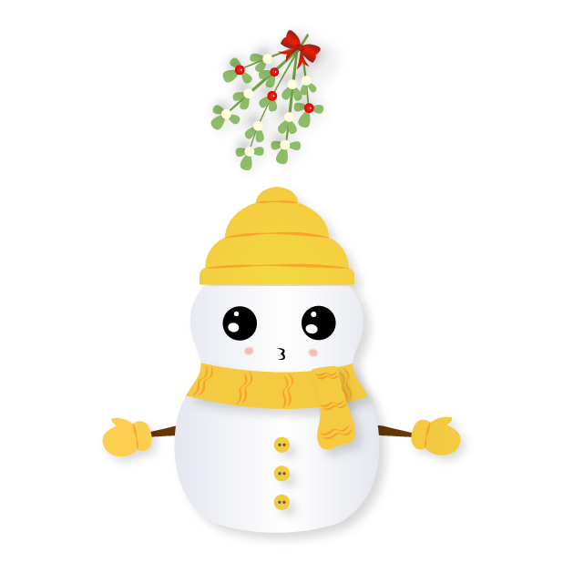 Little Snowman - Christmas Holiday Emoji messages sticker-3
