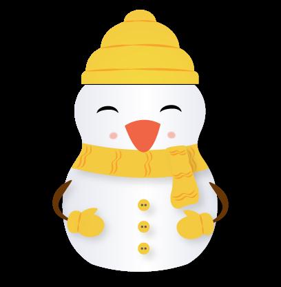 Little Snowman - Christmas Holiday Emoji messages sticker-8
