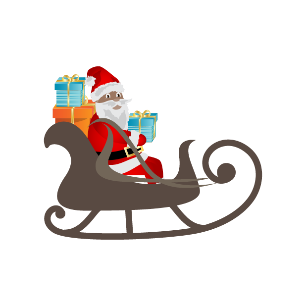 Black Santa (and White Santa!) messages sticker-6