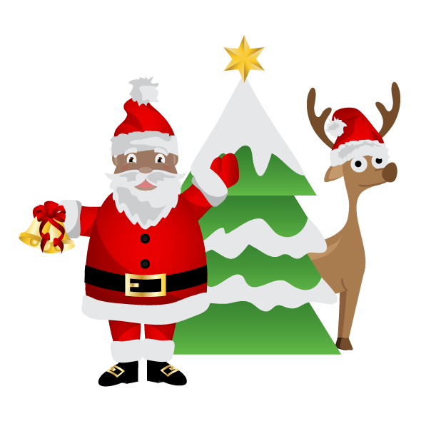 Black Santa (and White Santa!) messages sticker-3