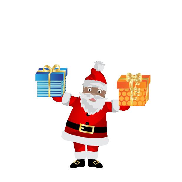 Black Santa (and White Santa!) messages sticker-4