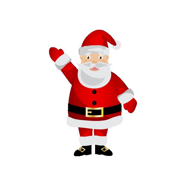 Black Santa (and White Santa!) messages sticker-1