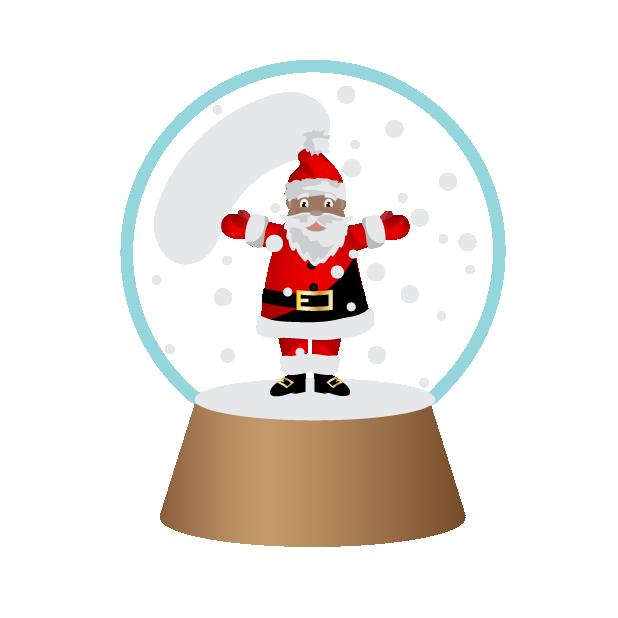 Black Santa (and White Santa!) messages sticker-11