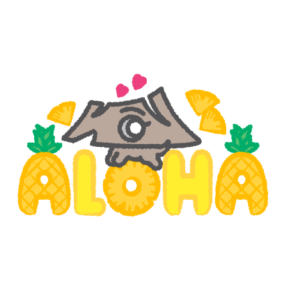 111-HAWAII PROJECT Diamond Headog messages sticker-4