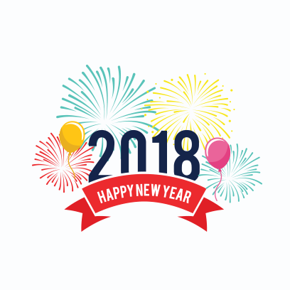 Happy New Year 2018 Stickers messages sticker-0