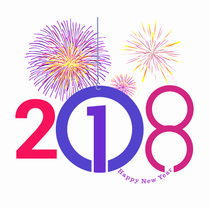 Happy New Year 2018 Stickers messages sticker-8