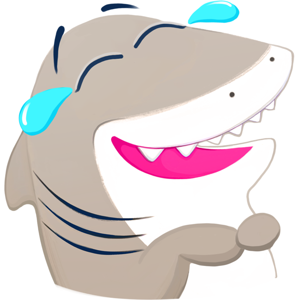Nice Shark! Good Kitty Cat and Penguin Too! Emoji messages sticker-4