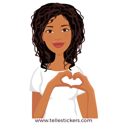 Telle-Eva: Chic stickers for women & girl talk messages sticker-0