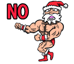 Merry Christmas Wiht Gymnast Santa Claus Stickers messages sticker-9